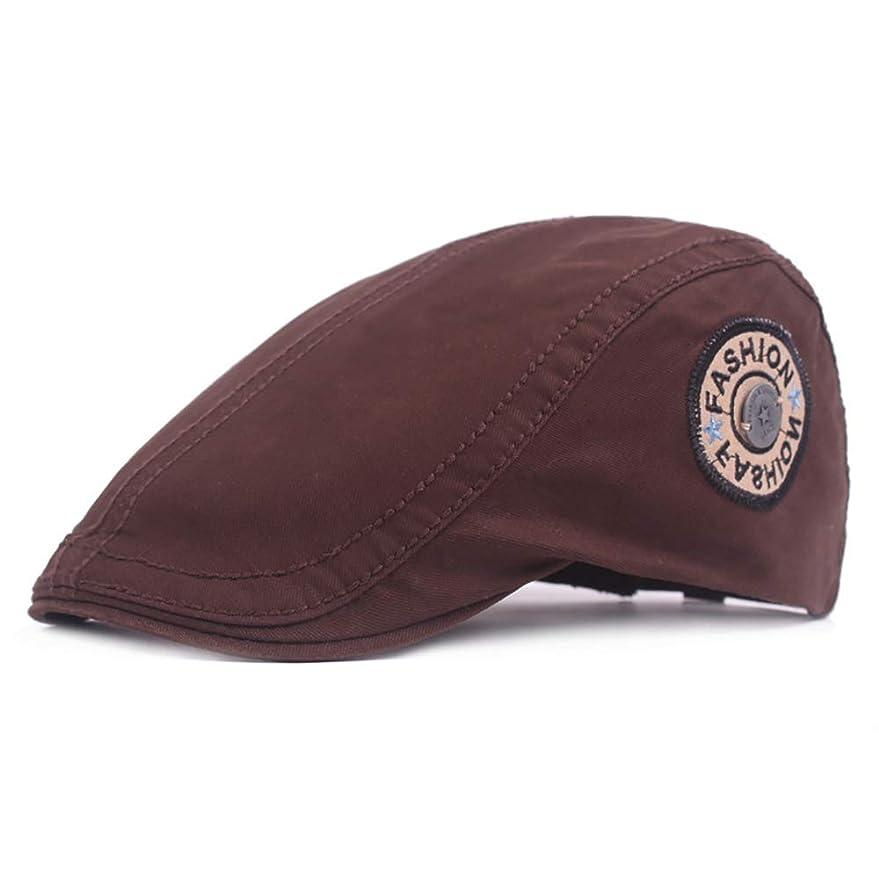 大脳メーター計器キャップ キャスケット メンズ ハンチング ゴルフ サイズ調整可 轻量 純色 カジュアル コットン 鳥打帽 54-59 cm Yingkou