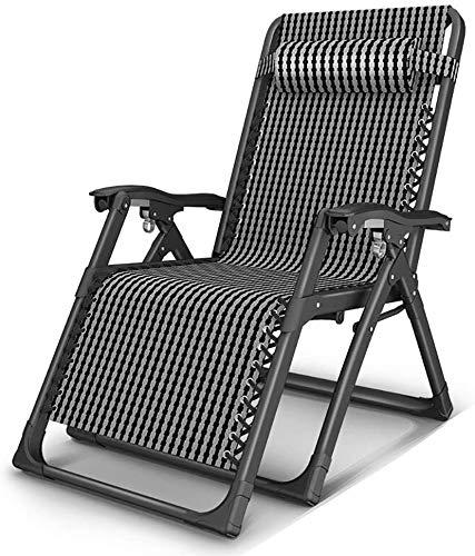 JJSFJH Terraza Silla de Gravedad Cero, Silla de Cubierta al Aire Libre, Ajustable sillón césped, con Almohadas, se Puede Utilizar for la Yarda y Camping