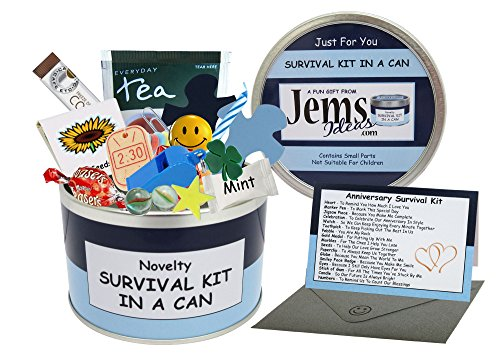 Anniversary Survival Kit In A Can. Humorous Novelty Gift - Male Anniversary or Wedding Anniversary...