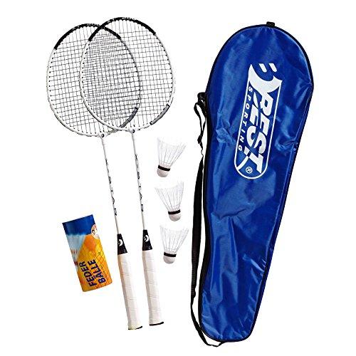 Best Sporting 200 XT Badminton Set, 2 Badminton Schläger 3 Bälle inklusive Tragetasche