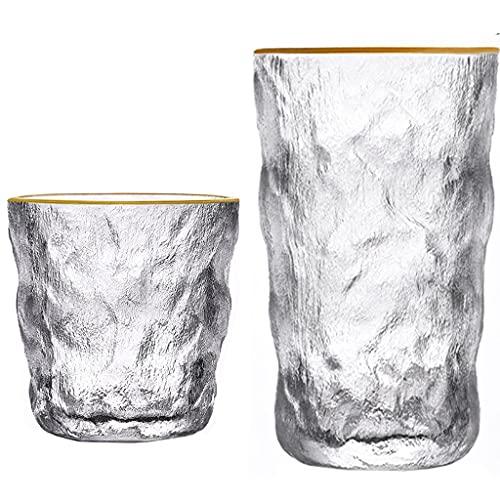 Vasos para Beber, Vasos De Whisky De Vino De 280ml / 350ml Copas De Cristal De Cóctel con Patrón Globle Creativo para Agua Jugo Cerveza Gin Champagne Scotch (Color : Phnom Penh, Set : 5)