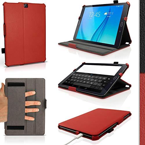 iGadgitz U4148 Funda PU Cuero y Protector Pantalla Compatible con Samsung Galaxy Tab S2 9.7'' SM-T810 y SM-T815 - Rojo