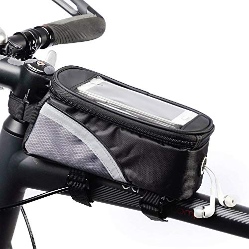XINGENG Bolsa de bicicleta PU Material impermeable Bicicletas bicicleta marco frontal tubo superior bolsa pantalla táctil para Moilbe teléfono MTB Moutain Road Bike Bag