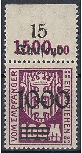 Goldhahn Danzig Porto Nr.I I postfrisch  Oberrandstück Briefmarken für Sammler
