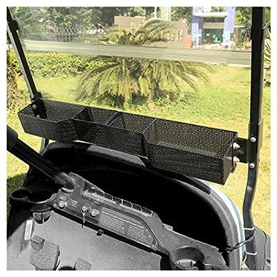 10L0L Front Inner Storage Basket and Rack for Club Car DS Precedent Golf Cart