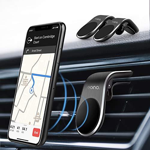 Amazon Brand - Eono Porta Cellulare da Auto 2 Pack, Supporto Telefono Auto Ventilazione Magnetico, Accessori Auto per Cellulare, Auto Universale per iPhone Samsung Huawei GPS, Non supporta Magsafe