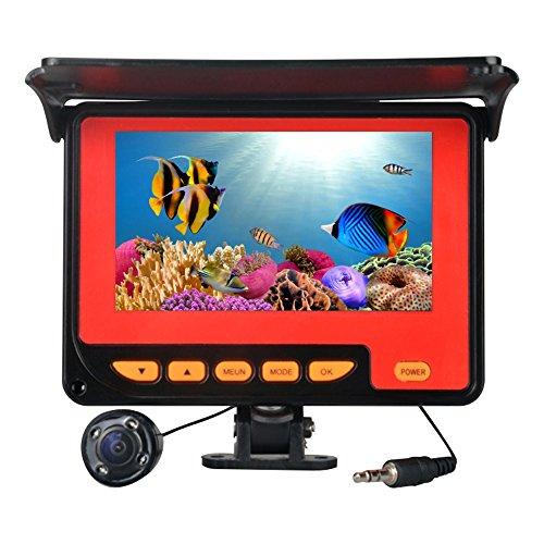 fish Finder Appareil photo de pêche sous-marine avec câble 20 m 4 Led infrarouge visuel Sondeur enregistrement HD Caméscope