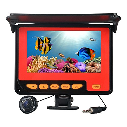Fish Finder pesca submarina cámara con 20 M Cable 4 IR LED de grabación de Visual impermeable Fishfinder HD Videocámara para pesca