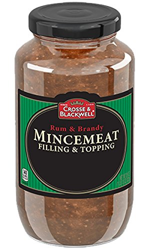 Cross & Blackwell Rum and Brandy Mincemeat Pie Filling and Topping   (2) 29 Ounce Jar – Gourmet, All Natural, and Free of High Fructose Corn Syrup!