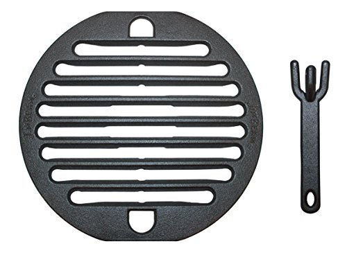 10 Inch Cast Iron Grill Grate With Lifter
