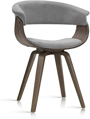 Artiss Miguel Dining Chairs Velvet Upholstered Bentwood Side Chairs Grey