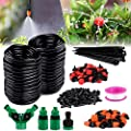 """Philonext Drip Irrigation,100ft /30M Garden Irrigation System, Adjustable Automatic Micro Irrigation Kits,1/4"""" Blank Distribution Tubing Hose Suit for Garden Greenhouse, Flower Bed,Patio,Lawn (30M)"""