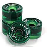 MAXOfit Tabla Larga - Longboard Ruedas de Repuesto Big Boy Verde 76x55 mm de diámetro, 19050