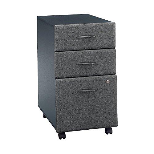 Bush Business Furniture Series A 3 Drawer Mobile File Cabinet, Slate