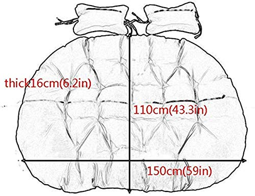 HIGHKAS Outdoor Swing Chair Cushion 2 People Hanging Egg Hammock Chair Pads for Garden Patio Rattan Chair Pad- Gray(Not…