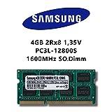 Samsung - Módulo de memoria RAM DDR3 SO-DIMM (4GB, 1600MHz, PC3L 12800S, baja tensión)