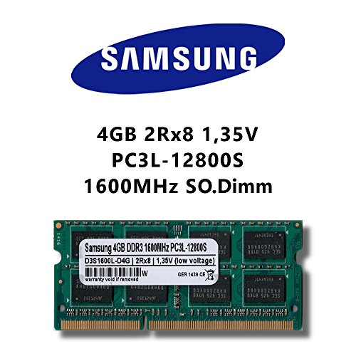 Samsung 4 GB (1 x 4 GB) DDR3 1600 MHz (PC3L 12800S) SO Dimm Low Voltage Notebook Laptop werkgeheugen RAM Memory