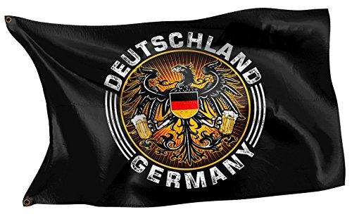 RAHMENLOS Original Design-Flagge: Deutschland-Fahne Bieradler