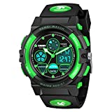 SOKY Gifts for 5-16 Year Kids Watches for Kids Boys 10-12 Waterproof Digital Sports Watch Toys for 5-12 Year Old Boy Girls Wrist Watches for Teenagers Christmas Gifts Stocking Stuffers for Teens Green
