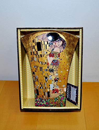 Atelier Harmony Blumenvase Gustav Klimt Der Kuss Porzellan mit Geschenkbox Tischvase
