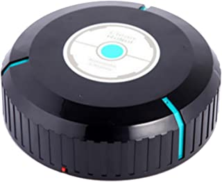 Dolity Automatic Cordless Vacuum Cleaning Robot Robotic Vac Cleaner for Hair Dust Dirt - Black, 5.5x23cm