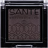 SANTE Naturkosmetik Mono Shade Lidschatten 06 Dazzling Grey, Grau, Eyeshadow, Schimmernde Farbnuance, Vegan, Bio-Extrakte, 2g