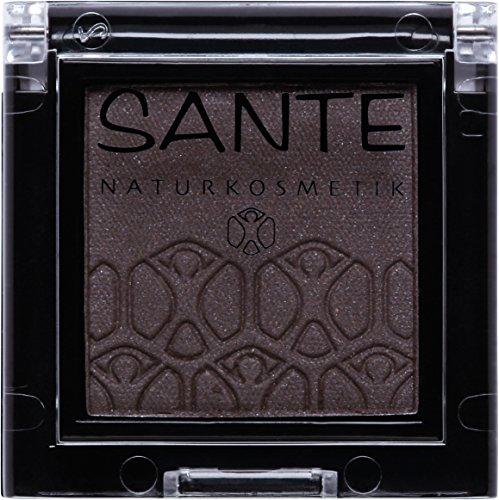 SANTE Naturkosmetik Mono Shade Lidschatten 06 Dazzling Grey, Grau, Eyeshadow, Schimmernde...