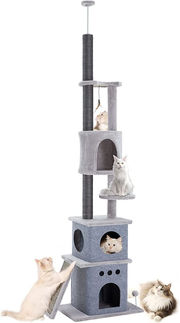 MELLCOM Cat Tree Floor-to-Ceiling Max 63% OFF Tower Adjustable Vertical Sale Special Price