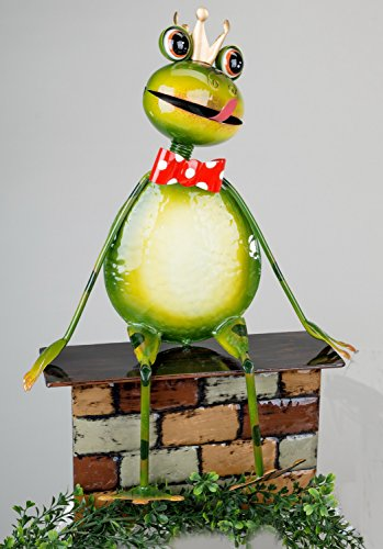 Klp Gartenstecker Frosch Metall Gartendeko Beet Stecker Rosenkugel Deko Figur Stab