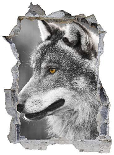 Wolf Wald Winter Nacht Wandtattoo Wandsticker Wandaufkleber E0521 Größe 46 cm x 62 cm