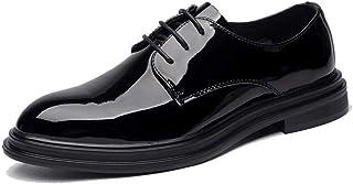 [ランボ] メンズ ビジネスシューズ 通気性 防水 黒 24.5cm 25cm 優雅 シンプル 防水 外羽根 フォーマル 卒業式 紳士靴 オールシーズン 美脚 カジュアル シューズ ビジネス 背が高くなる 靴 柔らかい 軽量