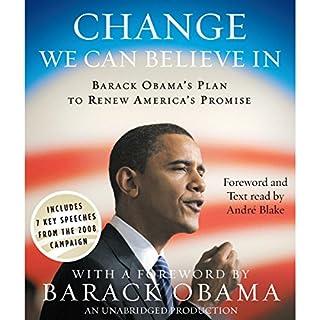 Change We Can Believe In audiobook cover art
