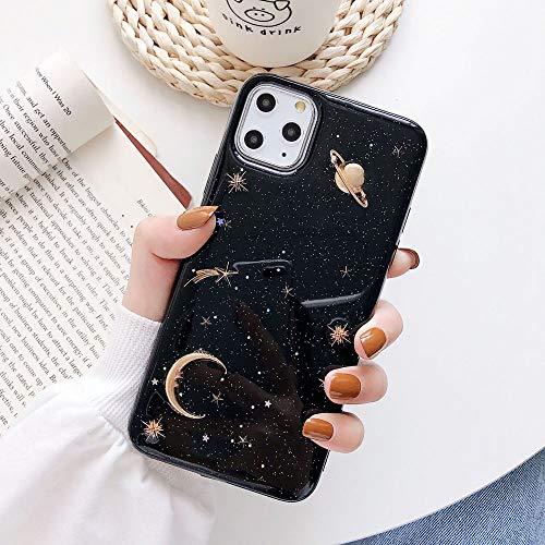 Zaxgf Funda compatible con iPhone 11 de 6,1 pulgadas, funda de silicona con bonito diseño negro suave de TPU, ultrafina, antigolpes, antiarañazos, carcasa para iPhone 11, color negro