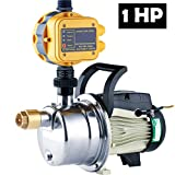 1 HP Pressure Booster Pump Automatic Water Pump Tankless Shallow Well Self-priming Jet Pump System