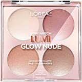 L'Oreal Paris Makeup True Match Lumi Glow Nude Highlighter Makeup Palette, Moon-Kissed, 0.26 oz.