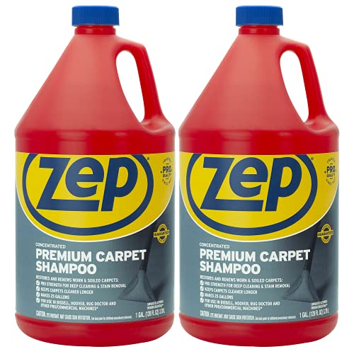 Zep Premium Carpet Shampoo 128 ounce ZUPXC128 (Pack of 2) Deep Cleaning and Stain Removal