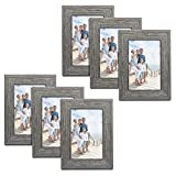 TWING Rustic Picture Frames 4x6 Distressed Wood Pattern High Definition Plexiglass Photos ...