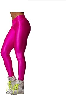 Fashion Neon Stretch Skinny Shiny Spandex Leggings Pants
