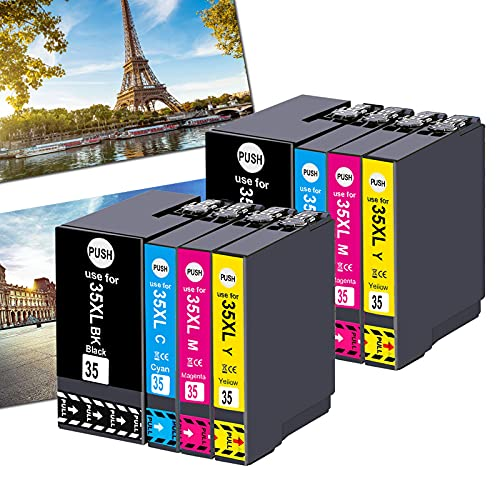 Ogouguan - Cartuchos de tinta compatibles con Epson Workforce Pro wf-4720dwf wf-4730dwf wf-4740dwf wf-4725dwf (2 negro, 2 cian, 2 magenta, 2 amarillo)