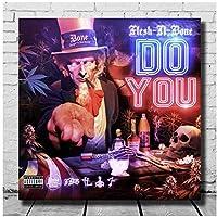 Flesh-N-Bone DoYouポスターキャンバスアートデコレーションアルバムカバーキャンバスペインティングアートポスター壁リビングルームデコレーション-50x75cmフレームなし