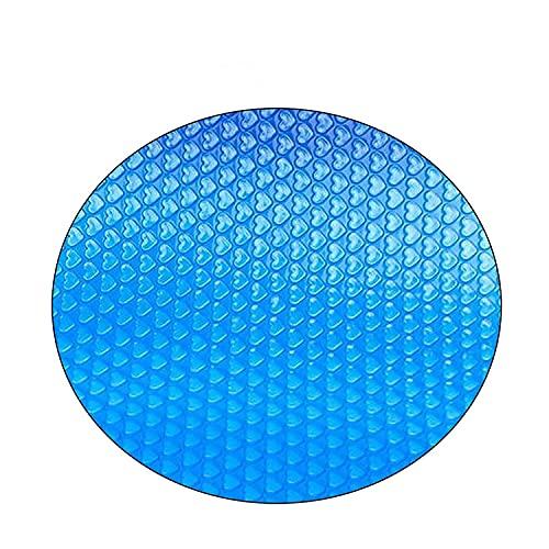 Cubierta de la piscina solar redonda de 10 pies, cubierta protectora de la piscina para la cubierta de la piscina sobre la piscina en el suelo Manta de la placa de la cubierta de la cubierta de la cub