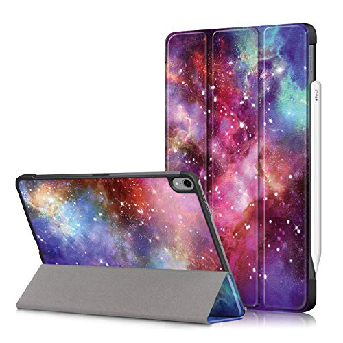 SINSO Case for New iPad Air 4th Generation 2020, 10.9 Inch iPad Air 4 Ultra Slim Lightweight Tri-fold Stand Protective Smart Cover Case with Auto Sleep/Wake for iPad 10.9' 2020 - Galaxy