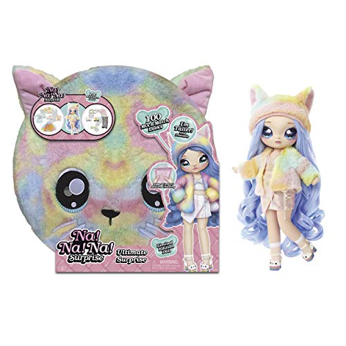 Na Na Na Ultimate Surprise, Incluye Muñeca de Moda con pelo cepillable, Ropa y Accesorios de Diseñador, Rainbow Kitty