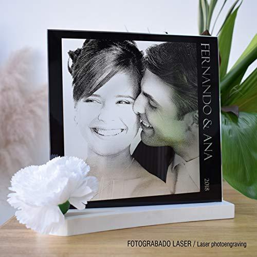 L9 Singular ® Fotografía Personalizada sobre Cristal Grabada con Las