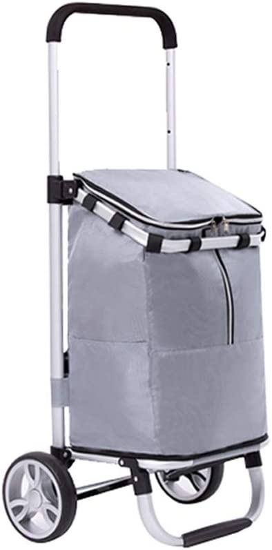 Kitchen Island Folding Portable Shopping Rod Tie Cart Three-Sp - Spring Safety and trust new work