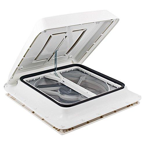 Fiamma Turbo Vent Kurbeldachhaube Polar Control mit Thermostat 40 x 40 für Wohnwagen oder Wohnmobil