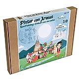 Arenart | Pack 6 Láminas de Campamento Indio 30x40cm | para Pintar con Arenas de Colores | Manualidades para Niños | Dibujo Infantil | +6 años