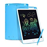 Swiftion LCD Writing Tablet,10 Inch Colorful Toddler Doodle Board Drawing Tablet,Erasable Reusable Electronic Drawing Pads,with Memory Lock,Birthday Gifts for 3-12 Years Old(Blue)