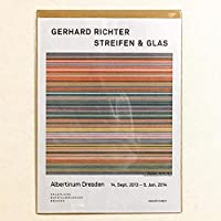 布 ポスター「ゲルハルト・リヒター STREIFEN & GLAS」 キャンバスプリント サイズ:30x40cm