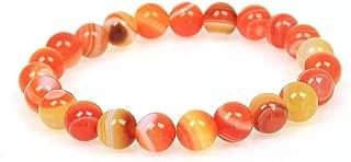 Men Women 8mm Tiger Eye Stone Beads Bracelet Elastic Natural Stone Yoga Bracelet Bangle